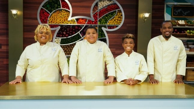 Family contestants on the original Disney Plus show Be Our Chef.