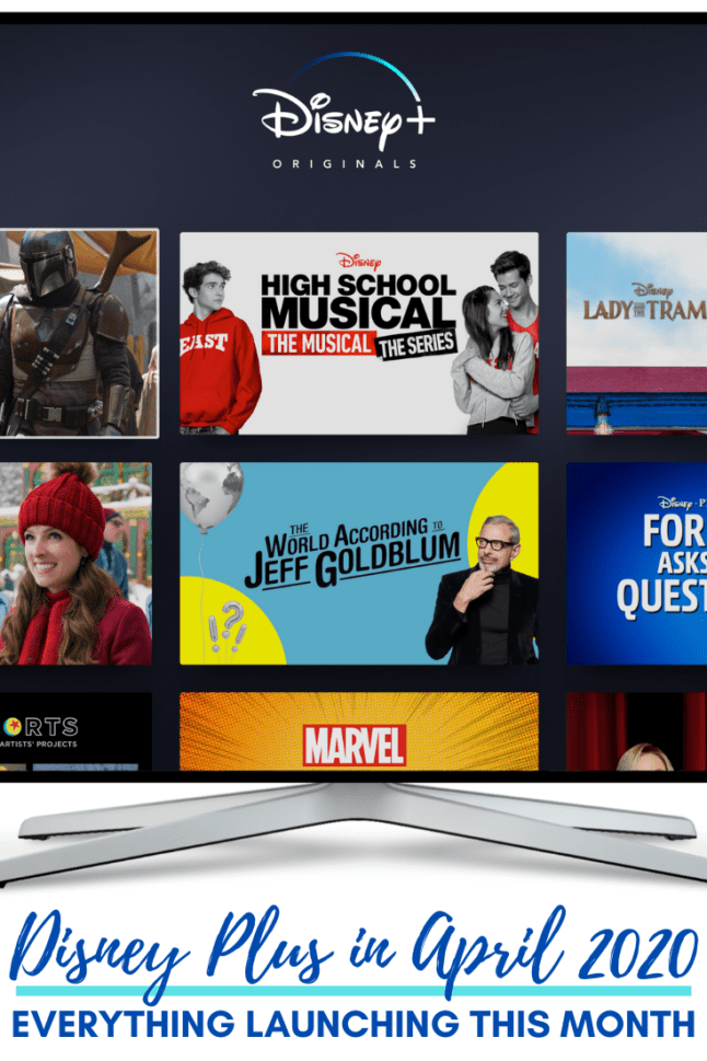 Check out what's NEW on the Disney Plus streaming service this month. Updated to include new movies and shows in April 2020. #disneyplus #whattowatch #streaming