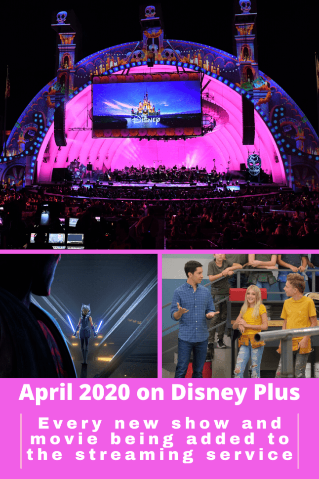 April 2020 guide to everything NEW on Disney Plus! We've got a list of all the new shows and movies coming to the streaming service in April 2020. #disneyplus #streaming #disneymovies #disneyoriginals