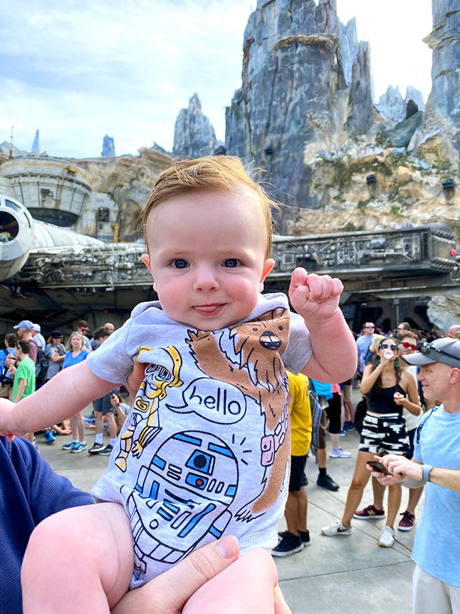 Take time to stop and enjoy the little things with a baby at Disney World.