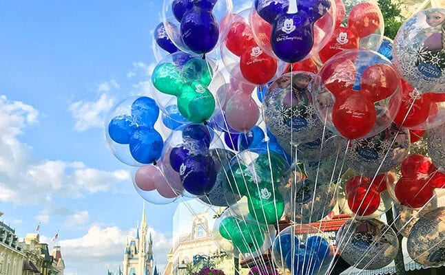 Balloons on Main Street in Disney World