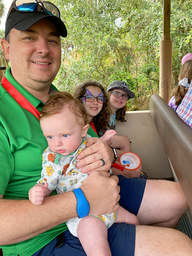 Rider swap is a great tip for families who take a baby to Disney.