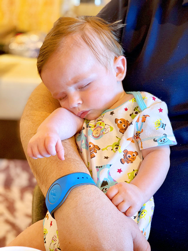Babies will nap anywhere which makes them perfect traveling companions.