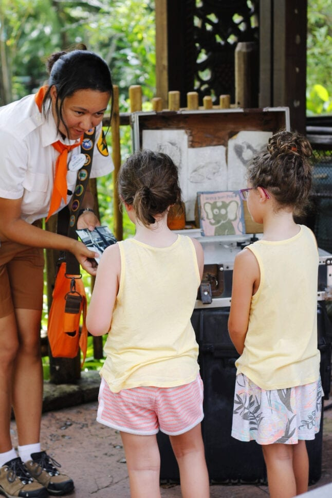 Free activities, like Wilderness Explorers in Animal Kingdom, help save money on a Disney World vacation.