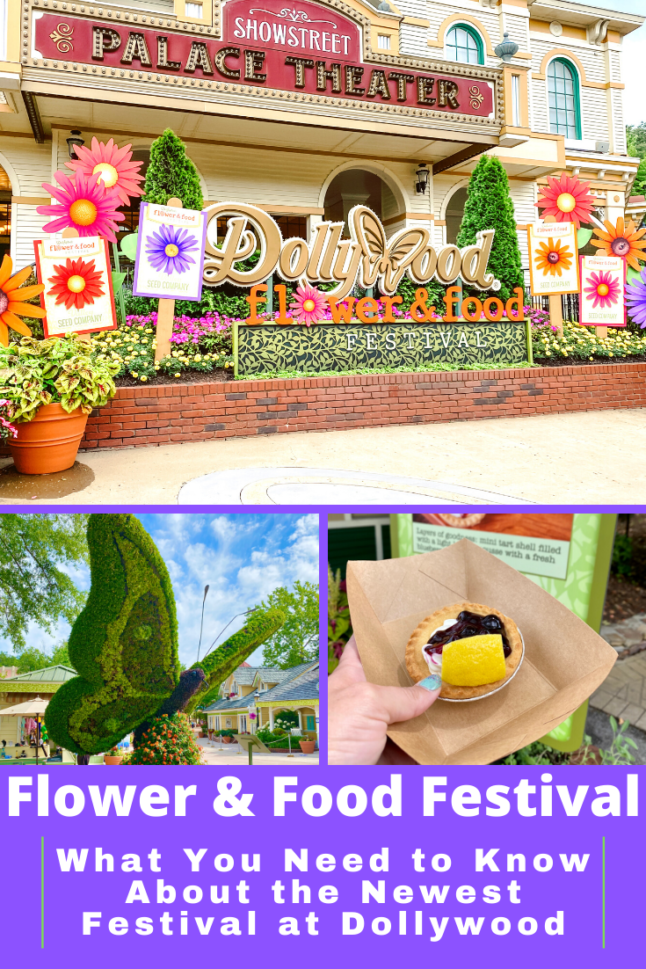Dollywood's brand new Flower and Food Festival is underway! Find out what you need see and eat when you visit Dollywood this summer! #dollywood #flowerandfood #dollywoodthemepark