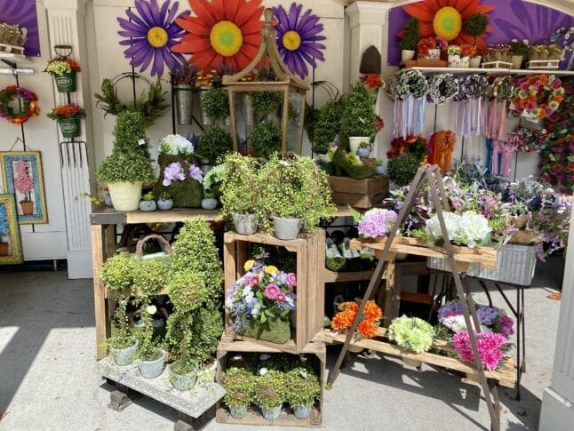 Floral gifts for purchase at Dollywood Flower and Food Festival