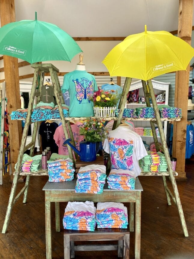 Flower and Food Festival merchandise at Dollywood shops