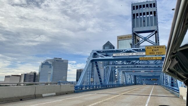 Jacksonville bridge over St. John's River