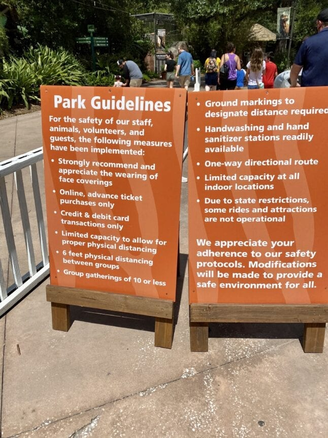 Zoo guidelines for visiting during COVID-19