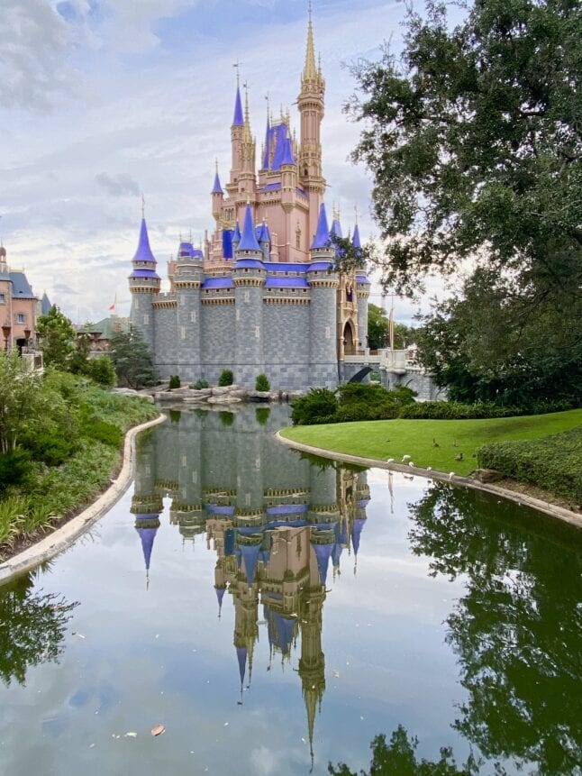 Newly painted Cinderella Castle at WDW