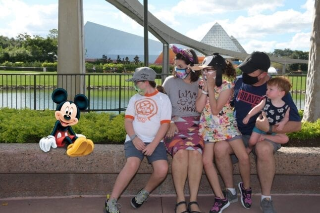 Magical extra photo at Epcot in 2020