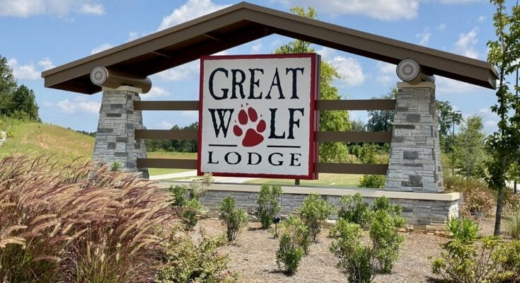 Entrance Sign for Great Wolf Lodge Georgia
