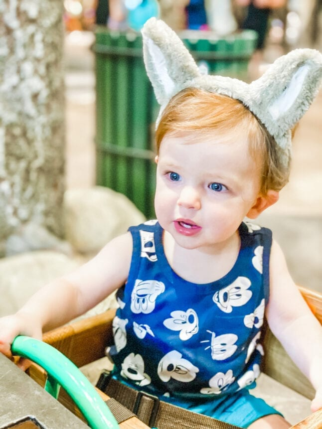 Free ears for kids at Great Wolf Lodge.