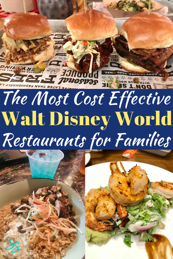Which Disney World restaurants have the best value? This list of table service and quick service restaurants gives you the break down of the best ones. #disneyworld #disneyrestaurants #disneydining