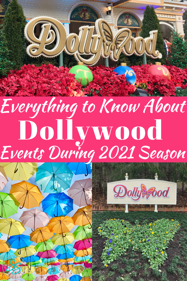 Here's everything you need to know about Dollywood schedule of events for the 2021 season. #dollywood #tennessee #pigeonforge #themepark