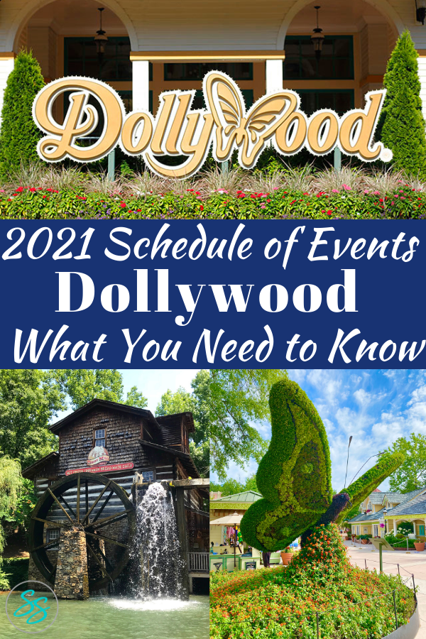 What's happening this year at Dollywood? Check out the important information you need to know about the Dollywood schedule of events for 2021. #dollywood #dollyparton #themepark
