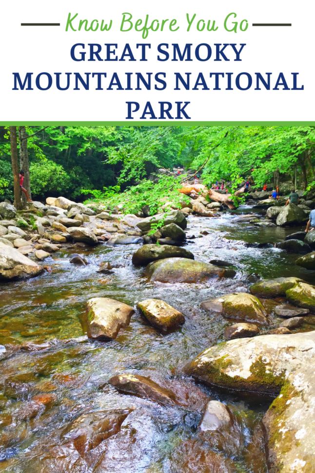 Here's what you need to know before you go when planning a visit to the Great Smoky Mountains National Park in the southeastern US. #greatsmokymountains #smokies #tennessee