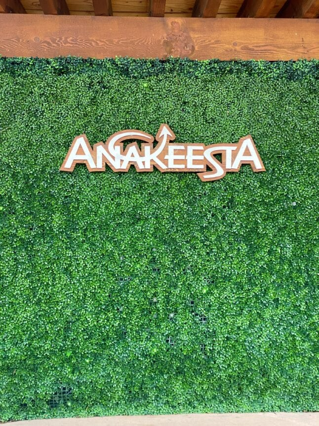 The logo hints at what Anakeesta actually is if you look close enough.