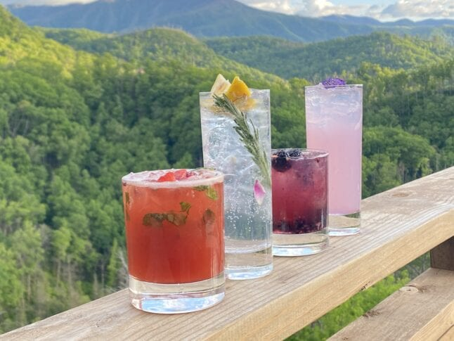 Spring cocktails at Cliff Top Bar and Grill.