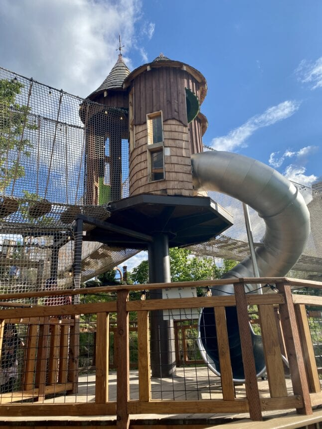 Kids will love the play structures in Anakeesta.