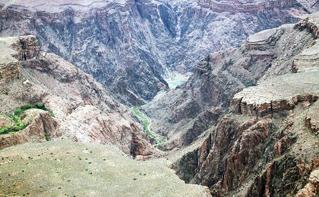 The Colorado River as seen from the South Rim of the Grand Canyon