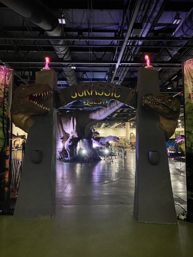 Entrance to Jurassic Quest