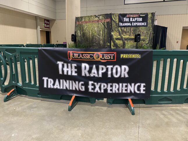 Photo of the Raptor Training experience at Jurassic Quest.