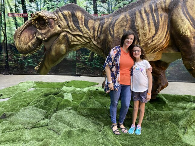 Photo opportunities with dinosaurs are plentiful at Jurassic Quest.