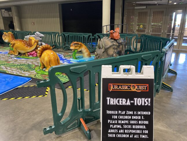 Play area at Jurassic Quest for kids under 3.